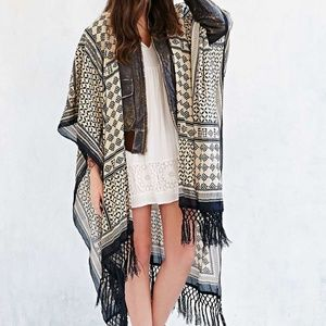 Urban Outfitters | Ecote | Patchwork Fringe Duster